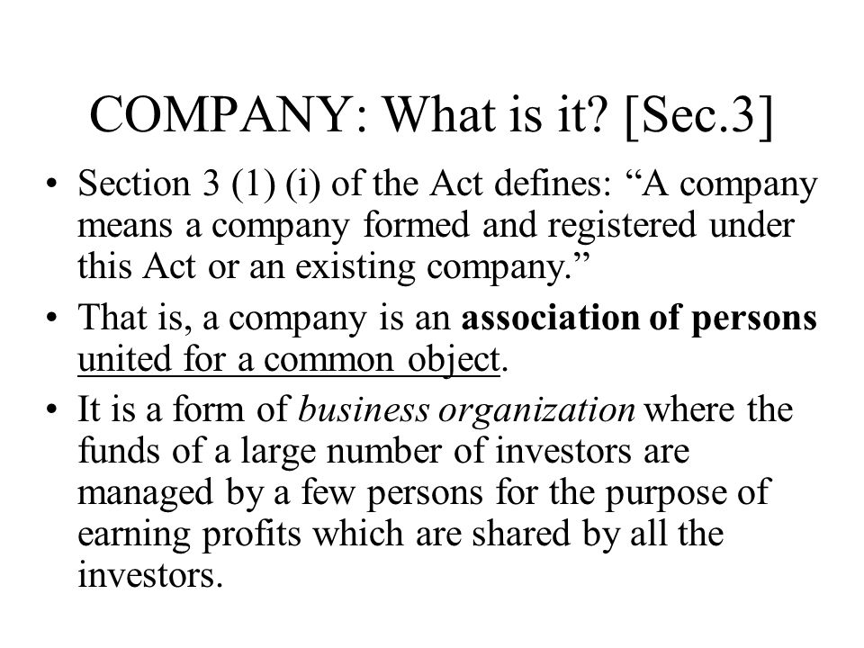 Formation of a company under companies act 1956 essay